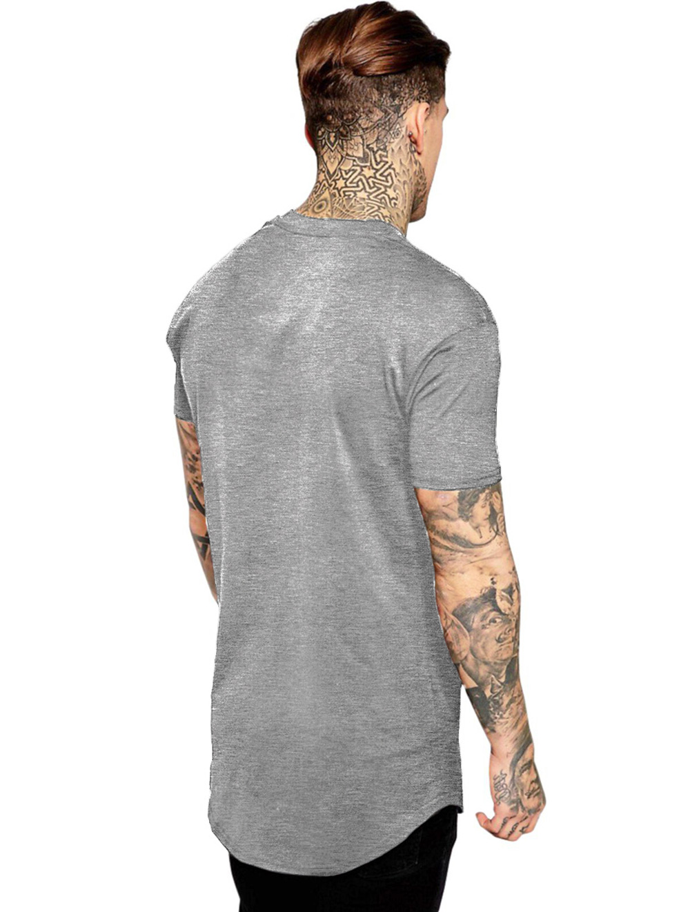 Camiseta Masculina Oversized Long Line Jesus Cristã Religiosa ES_169