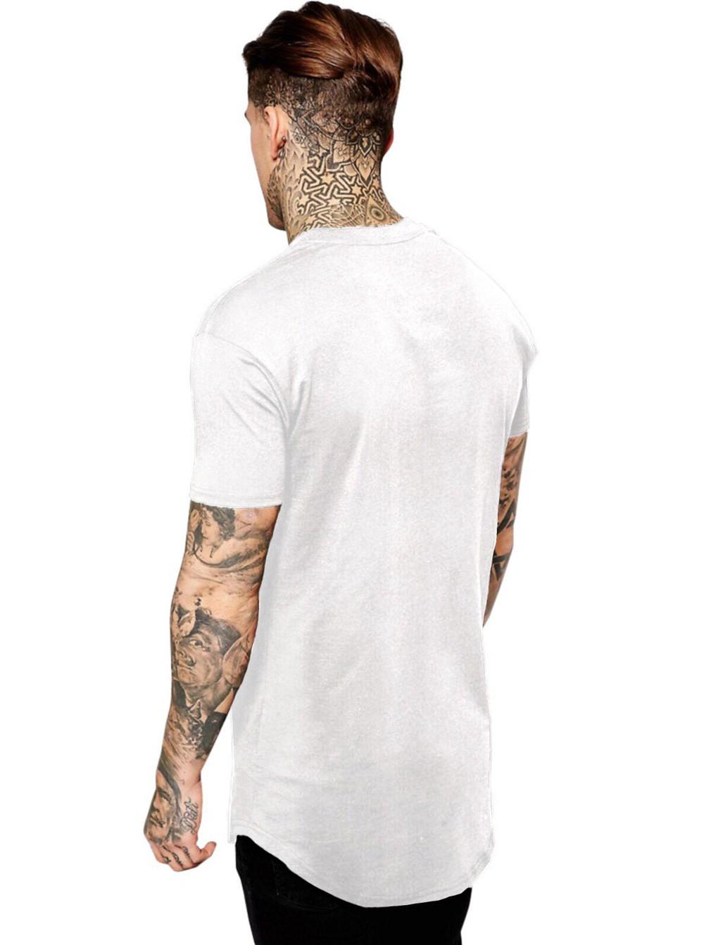 Camiseta Masculina Oversized Long Line Jesus Loves You ES_058