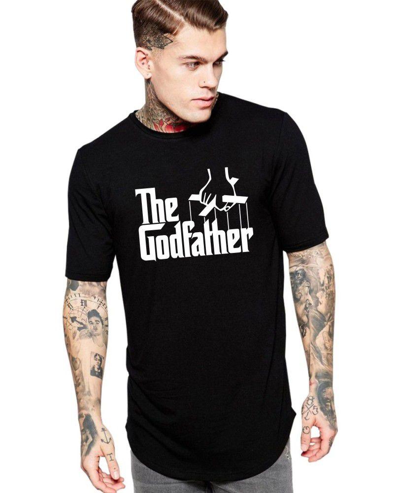 Camiseta Masculina Oversized Long Line O Poderoso Chefão - The Godfather ER_141