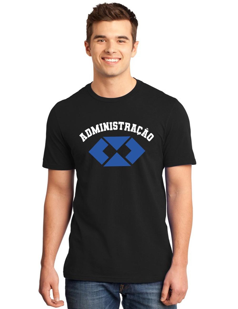 Camiseta Masculina Universitária Faculdade Administração