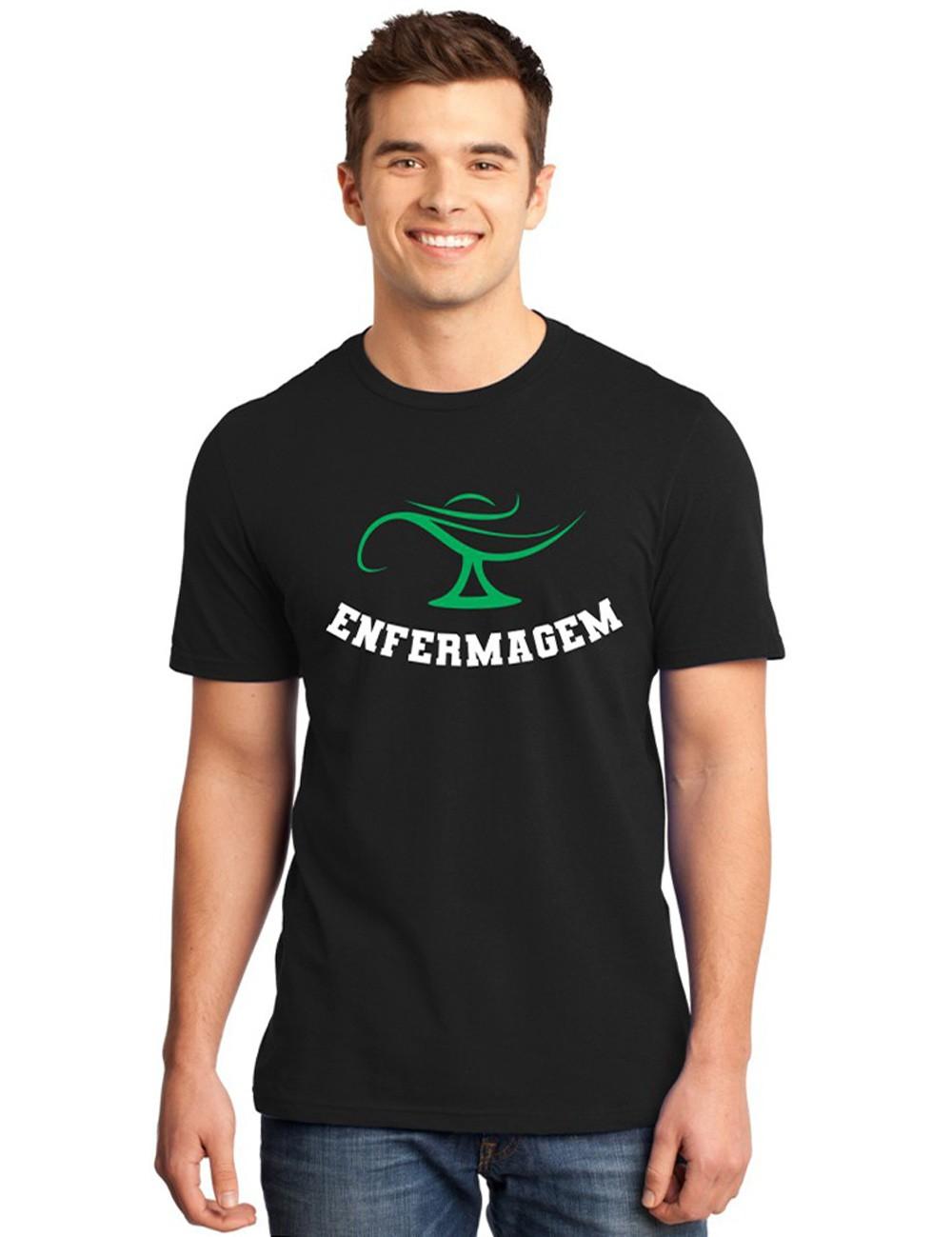 Camiseta Masculina Universitária Faculdade Enfermagem
