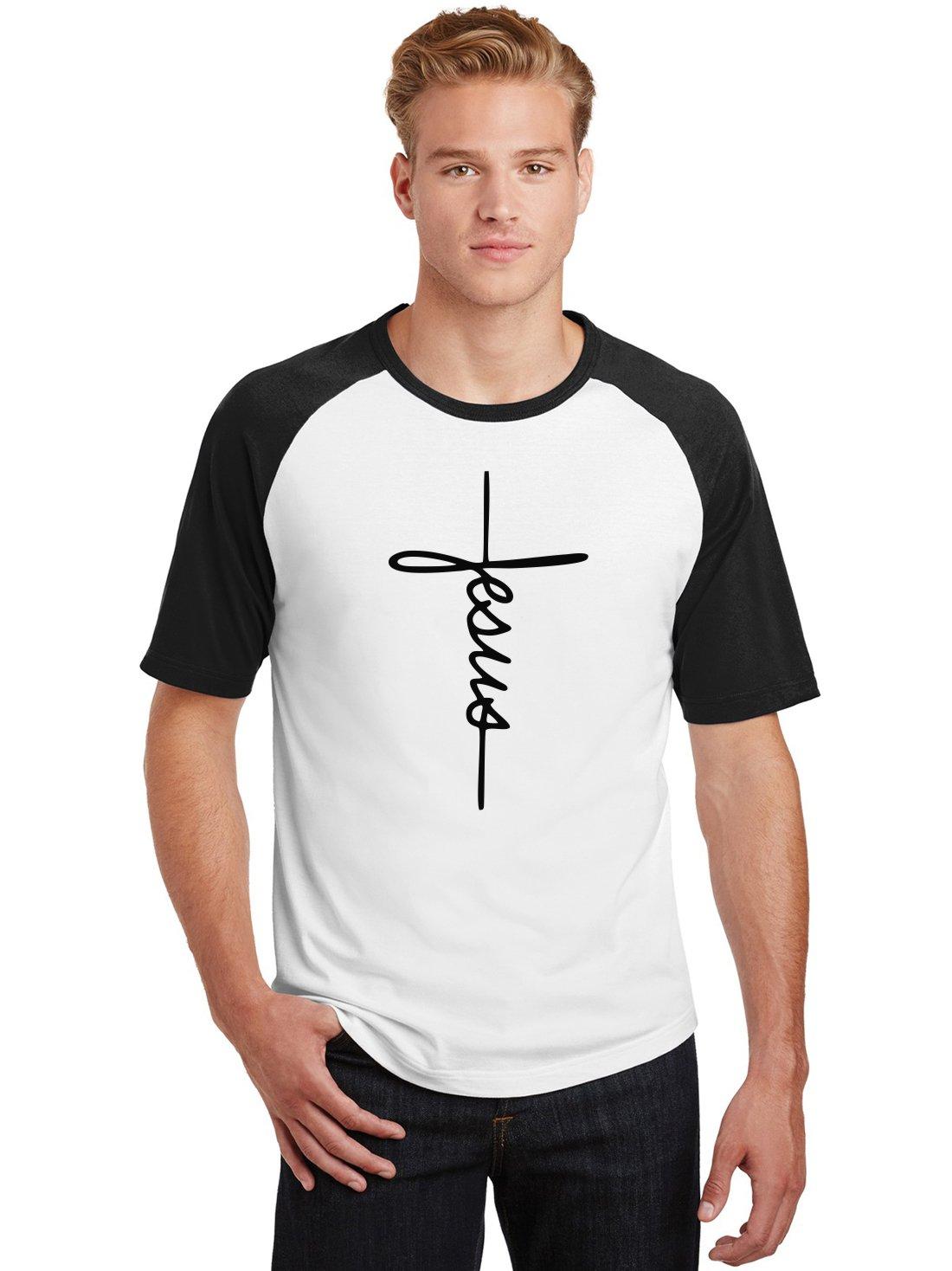 Camiseta Raglan Masculina Jesus Cristã Religiosa ES_169