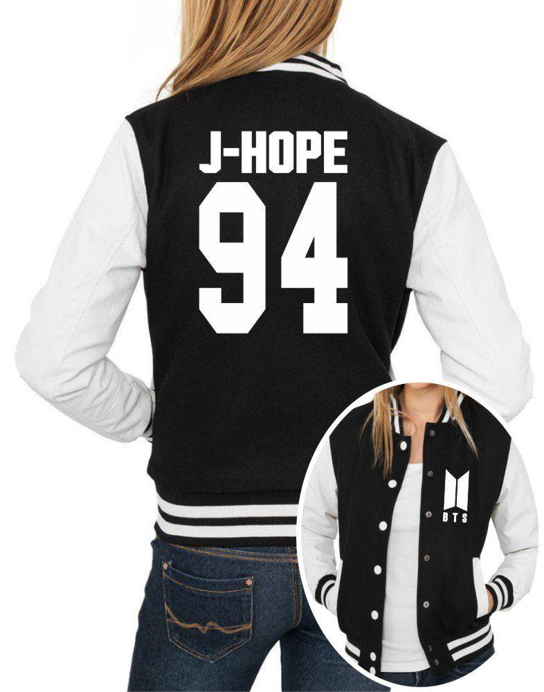 Jaqueta College Feminina Kpop BTS Integrantes J-Hope 94 ER_110