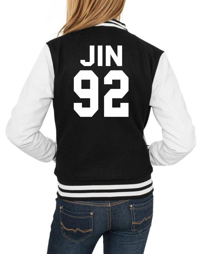 Jaqueta College Feminina Kpop BTS Integrantes Jin 92 ER_108