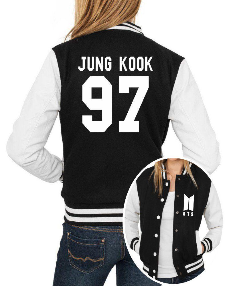 Jaqueta College Feminina Kpop BTS Integrantes Jung Kook 97 ER_109
