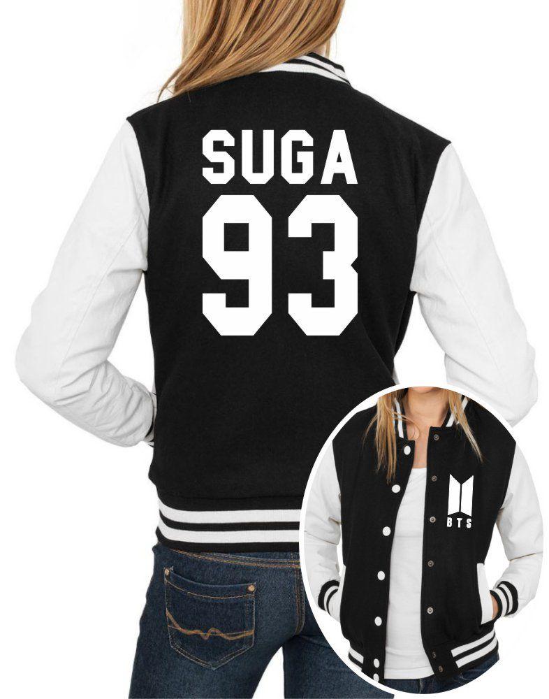 Jaqueta College Feminina Kpop BTS Integrantes Suga 93 ER_105