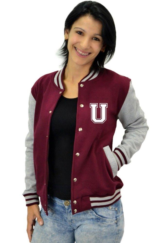 Jaqueta College Feminina Universitária Americana - Letra U