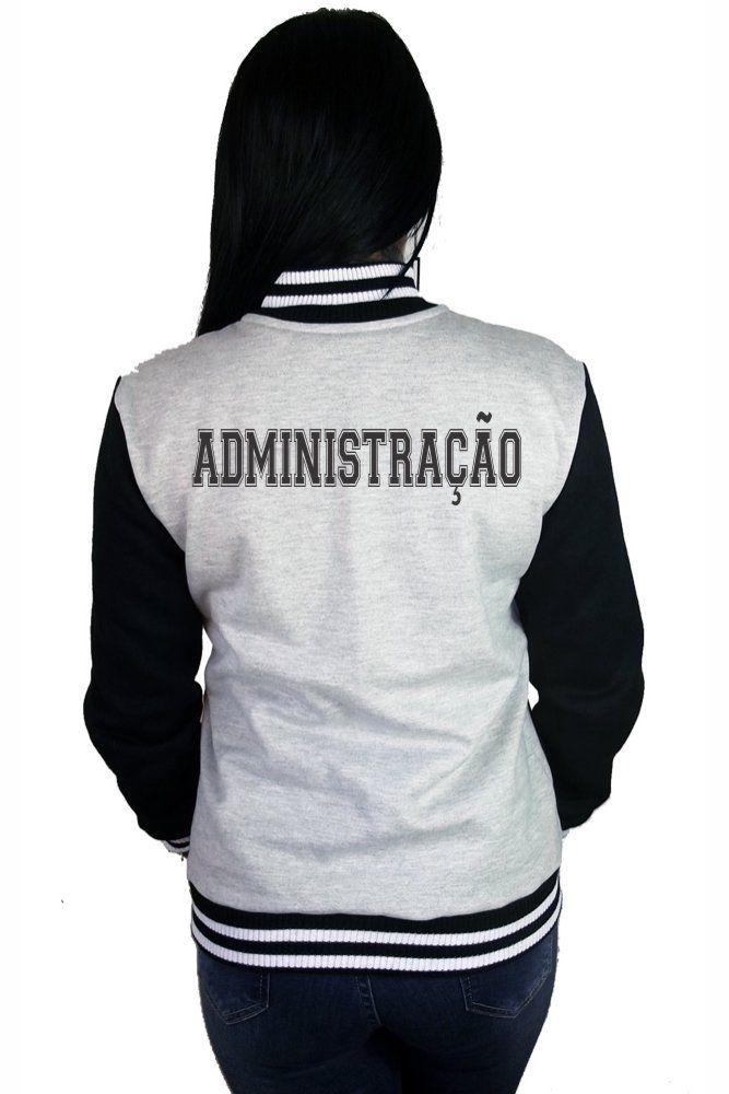Jaqueta College Feminina Universitária Faculdade Administração