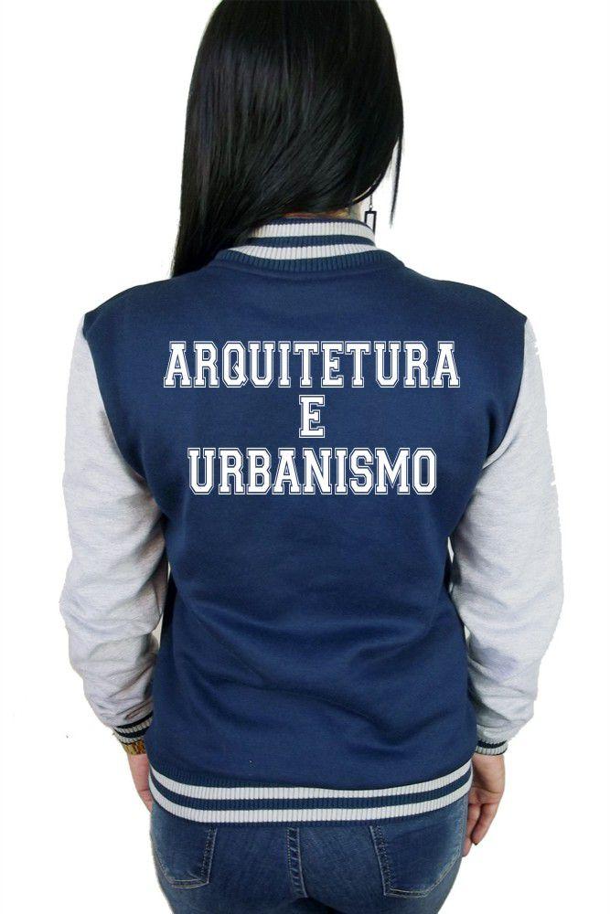 Jaqueta College Feminina Universitária Faculdade Arquitetura e Urbanismo