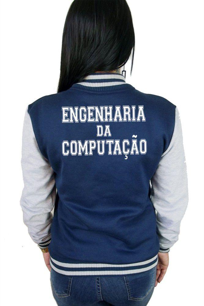 Jaqueta College Feminina Universitária Faculdade Engenharia Da Computação