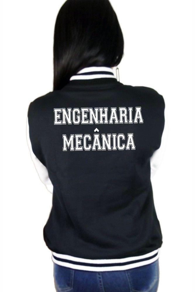 Jaqueta College Feminina Universitária Faculdade Engenharia Mecânica