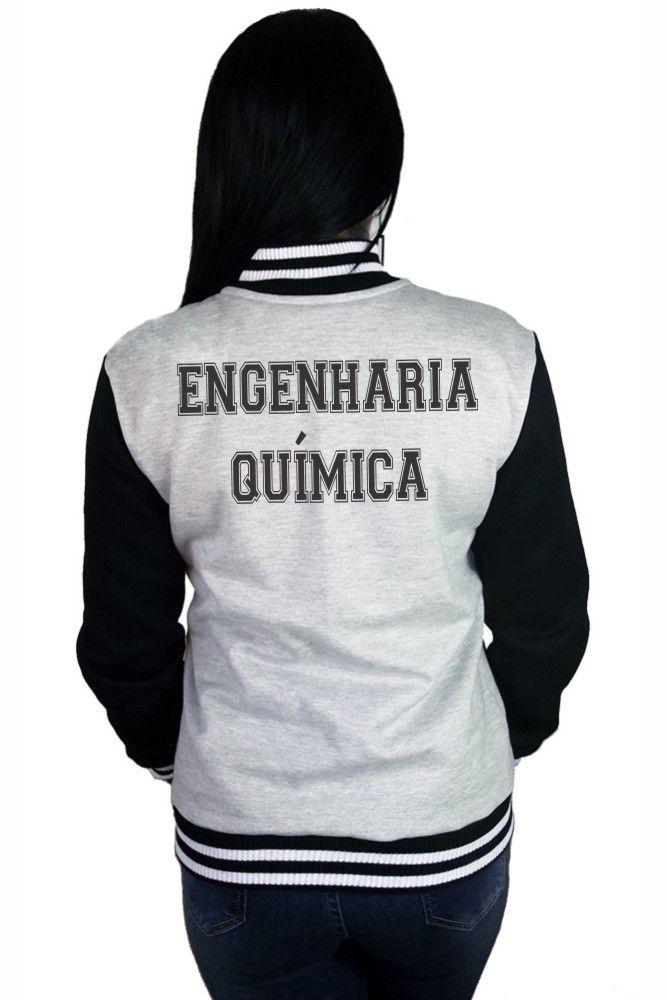 Jaqueta College Feminina Universitária Faculdade Engenharia Química