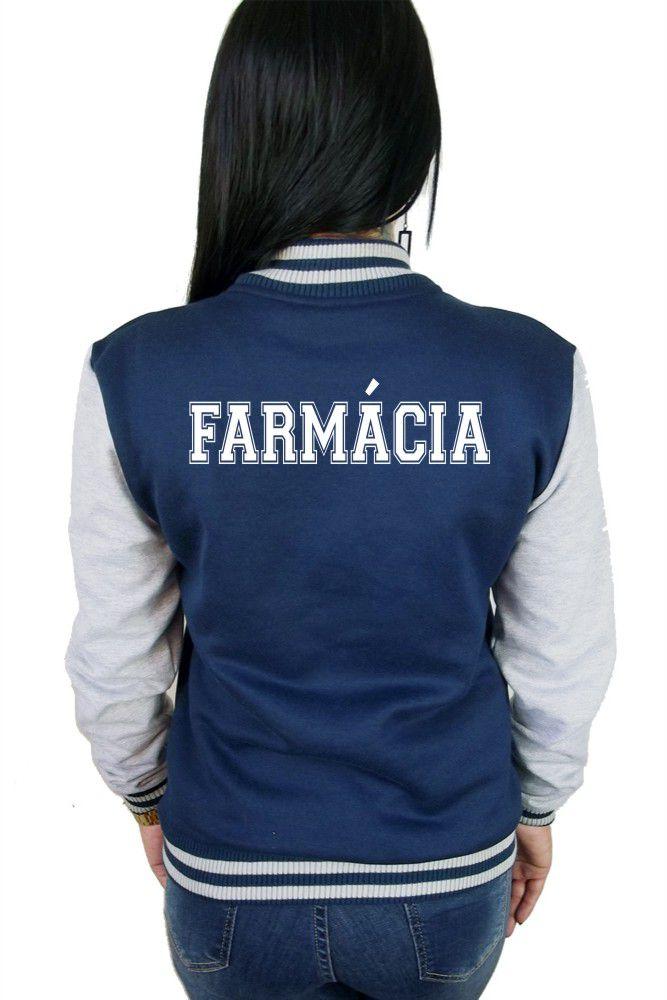 Jaqueta College Feminina Universitária Faculdade Farmácia