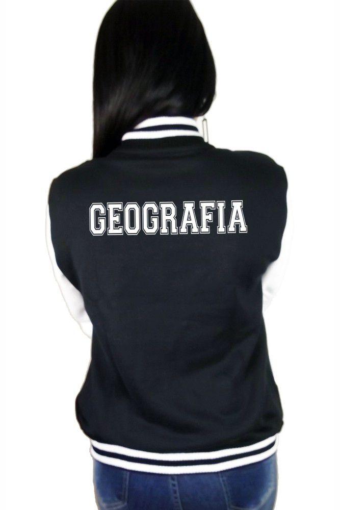 Jaqueta College Feminina Universitária Faculdade Geografia