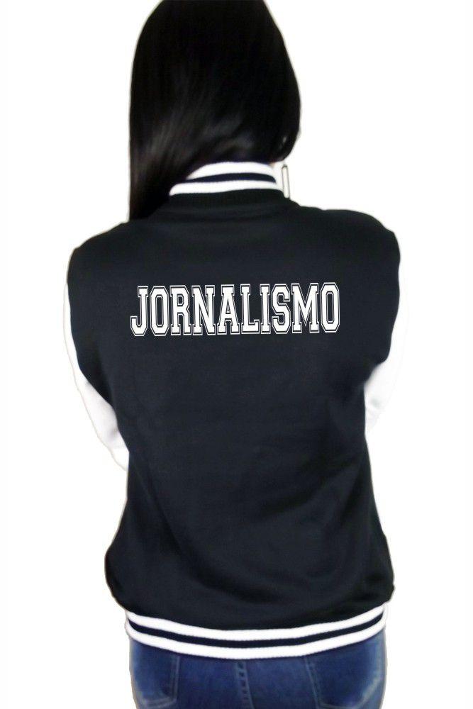 Jaqueta College Feminina Universitária Faculdade Jornalismo