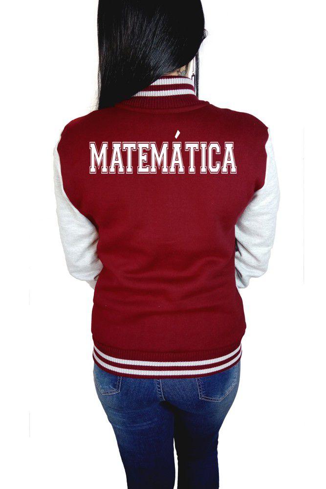 Jaqueta College Feminina Universitária Faculdade Matemática
