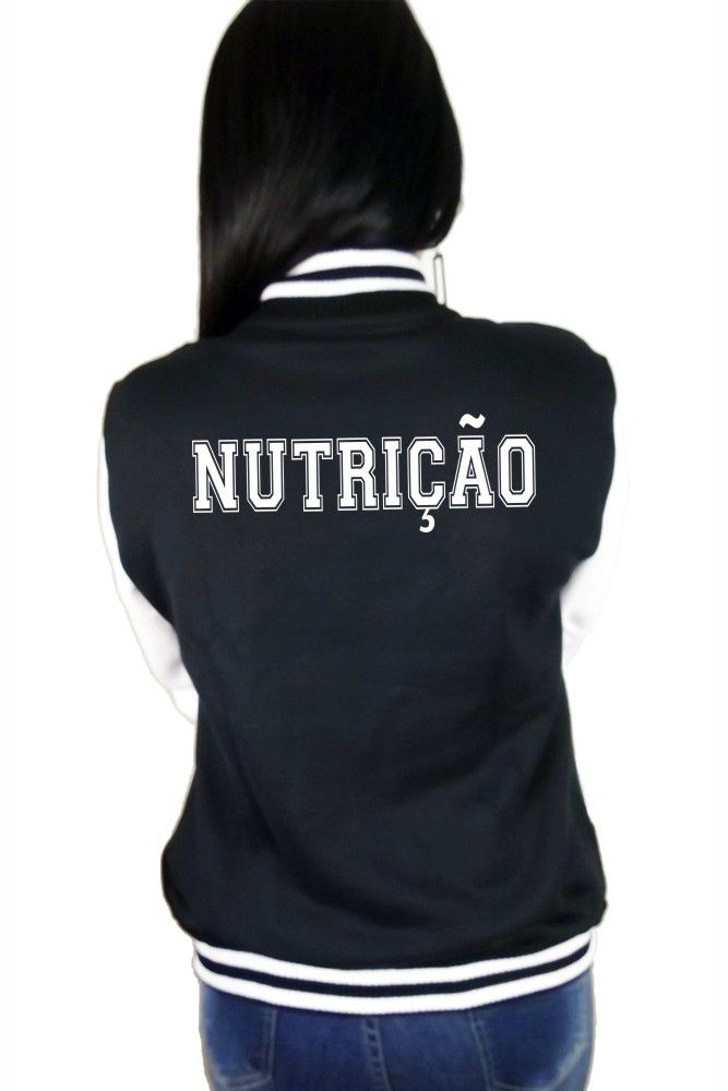 Jaqueta College Feminina Universitária Faculdade Nutrição
