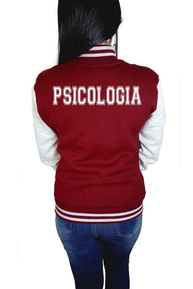 Jaqueta College Feminina Universitária Faculdade Psicologia