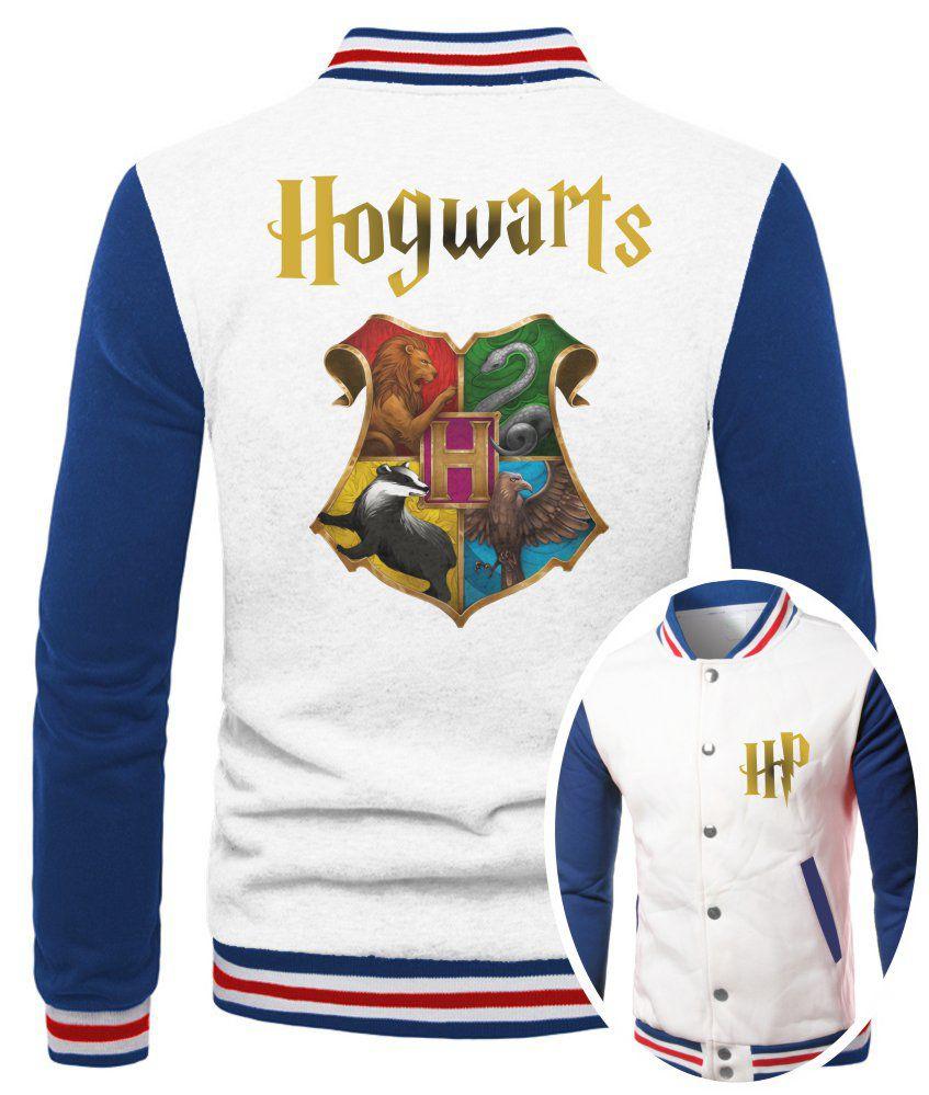 Jaqueta College Masculina Branca Harry Potter Hogwarts ES_180