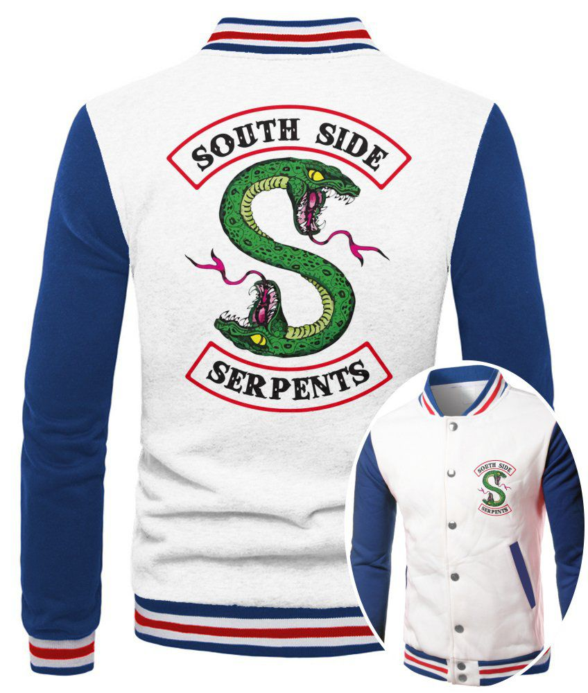 Jaqueta College Masculina Branca Riverdale South Side Serpents ES_165