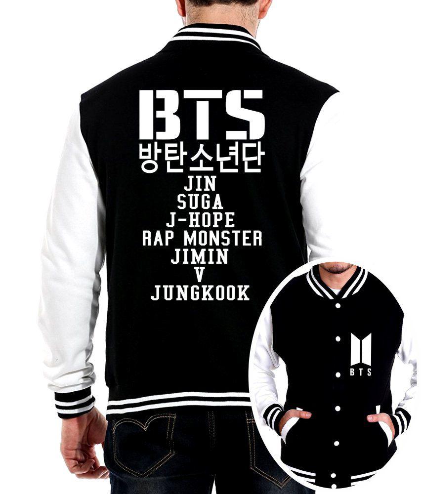 Jaqueta College Masculina Kpop BTS Integrantes BTS Nomes ER_093
