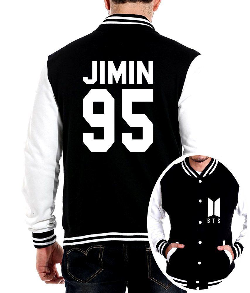 Jaqueta College Masculina Kpop BTS Integrantes Jimin 95 ER_104