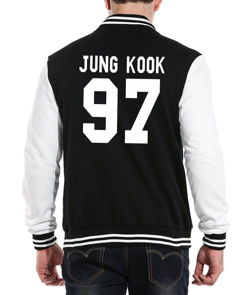 Jaqueta College Masculina Kpop BTS Integrantes Jung Kook 97 ER_109