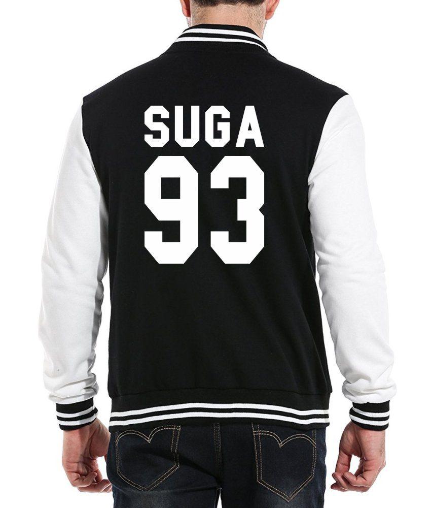 Jaqueta College Masculina Kpop BTS Integrantes Suga 93 ER_105