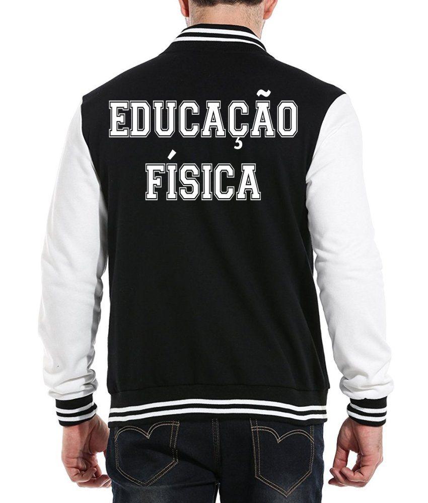 Jaqueta College Masculina Universitária Faculdade Educação Física