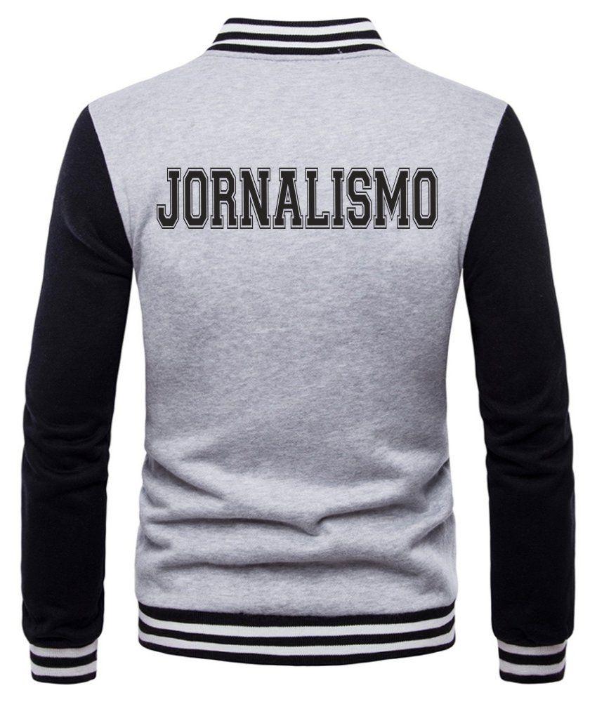Jaqueta College Masculina Universitária Faculdade Jornalismo