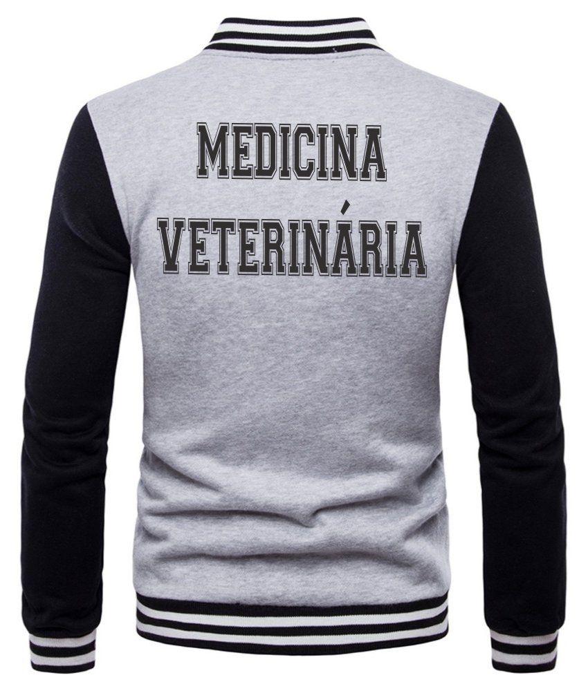 Jaqueta College Masculina Universitária Faculdade Medicina Veterinária