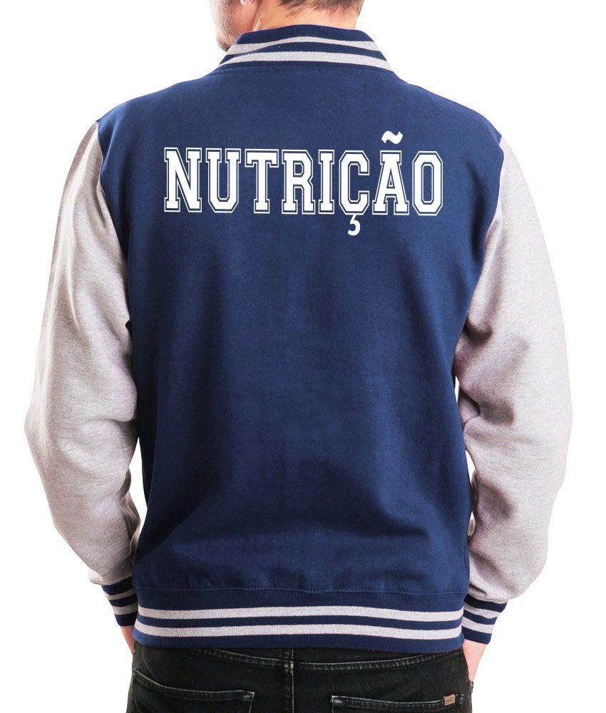Jaqueta College Masculina Universitária Faculdade Nutrição