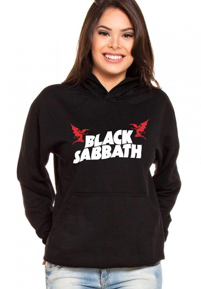 Moletom Canguru Feminino Black Sabbath ER_084