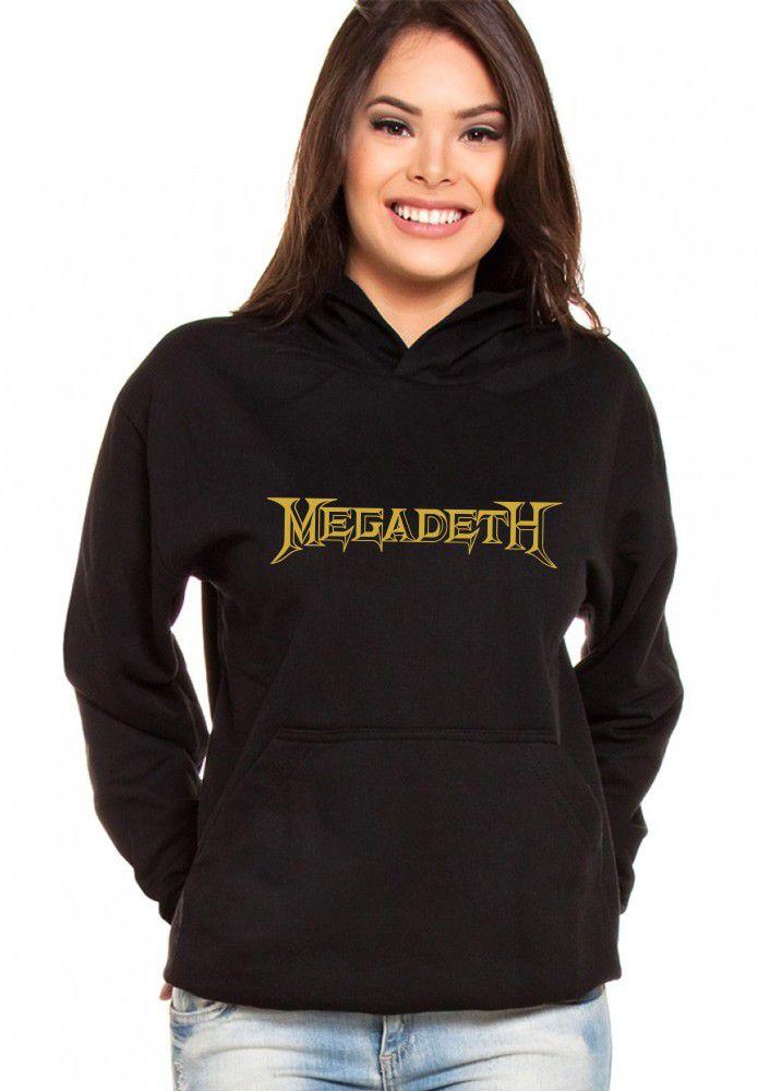 Moletom Canguru Feminino Megadeth ER_072