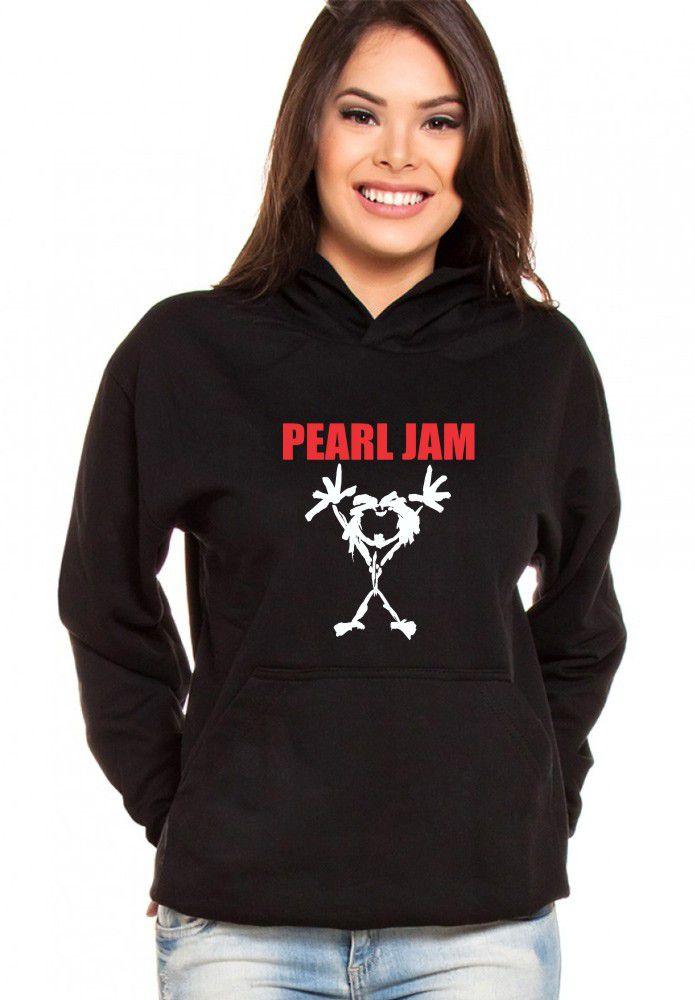 Moletom Canguru Feminino Pearl Jam ER_062
