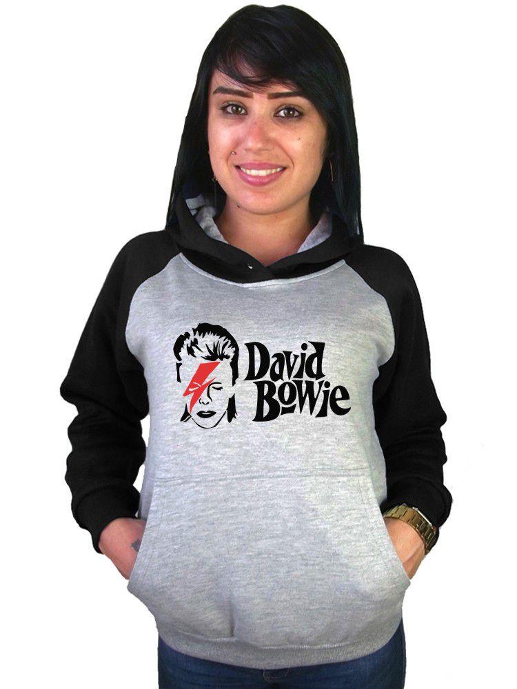 Moletom Canguru Feminino Raglan David Bowie ER_123