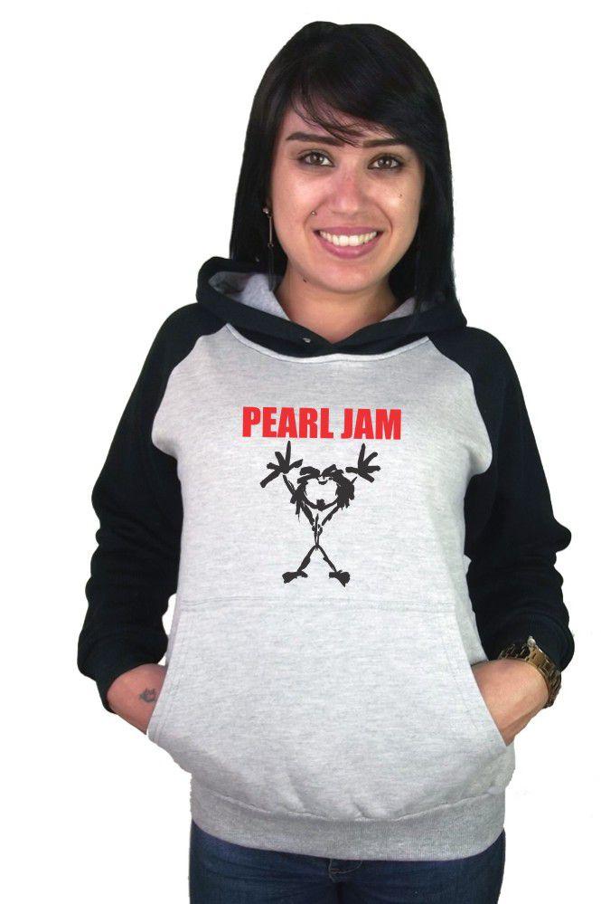 Moletom Canguru Feminino Raglan Pearl Jam ER_062