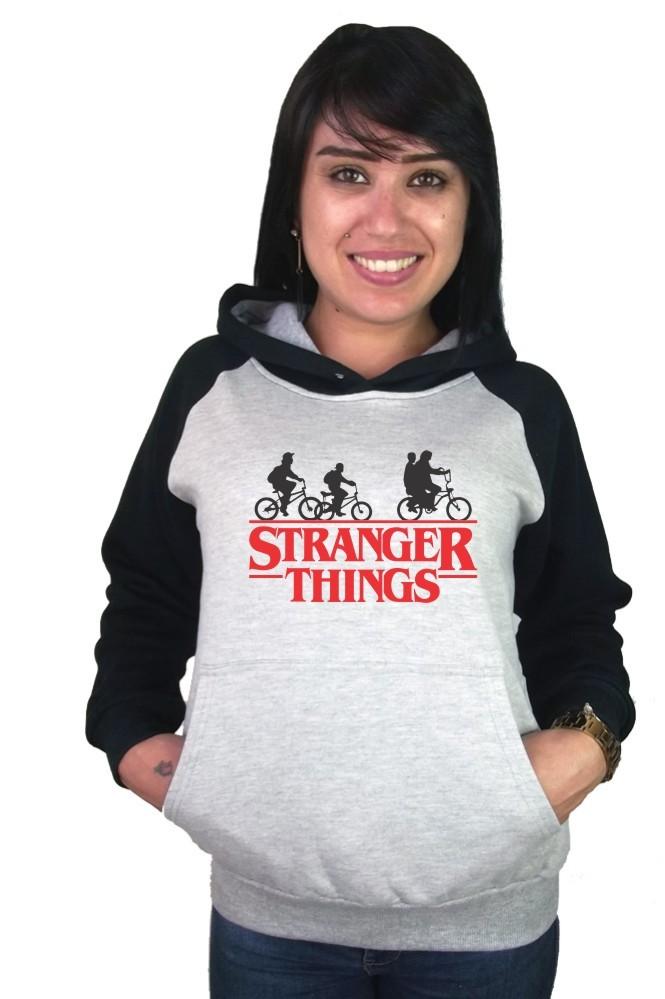 Moletom Canguru Feminino Raglan Stranger Things ER_050