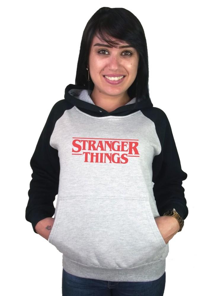 Moletom Canguru Feminino Raglan Stranger Things Logo ER_039