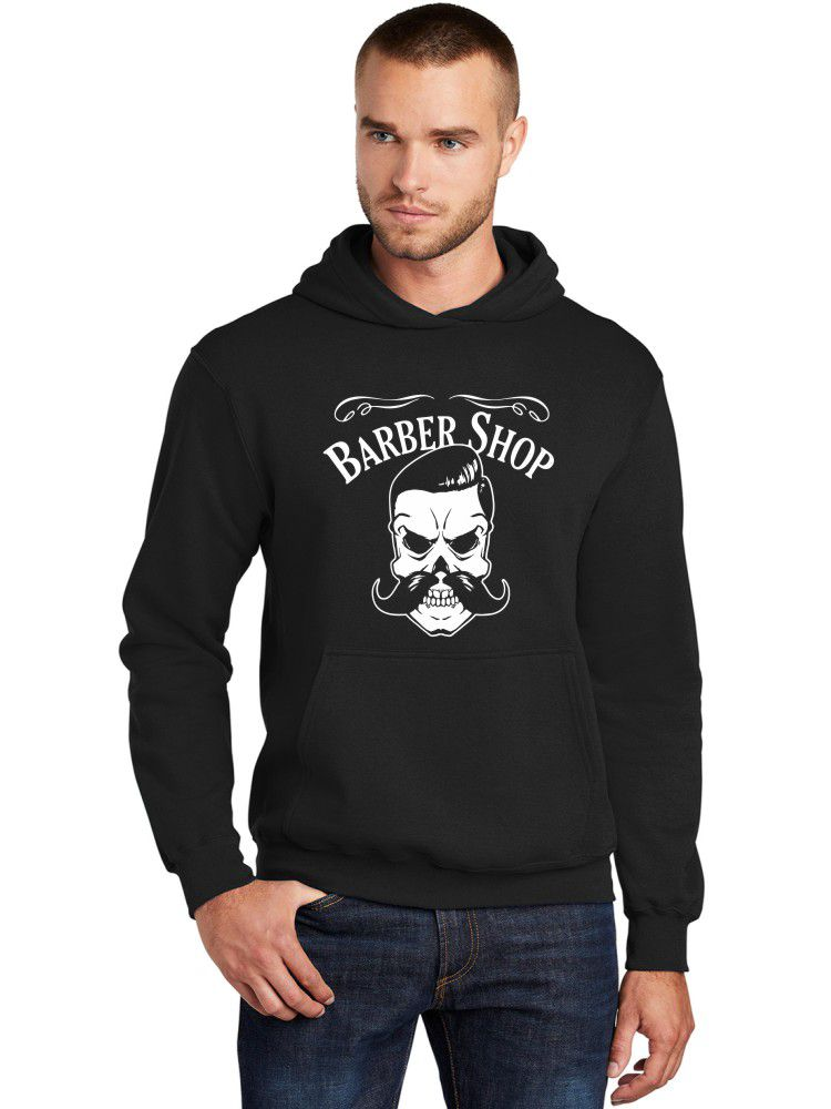 Moletom Canguru Masculino Barbearia Clássica Barber Shop ER_158
