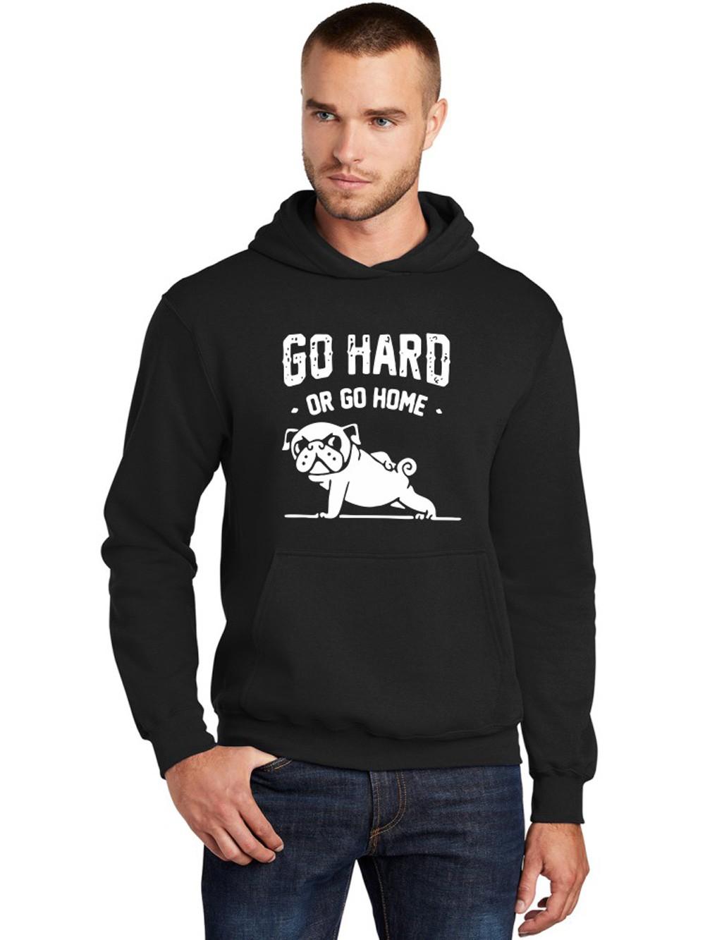 Moletom Canguru Masculino Go Hard Or Go Home Pug ER_149