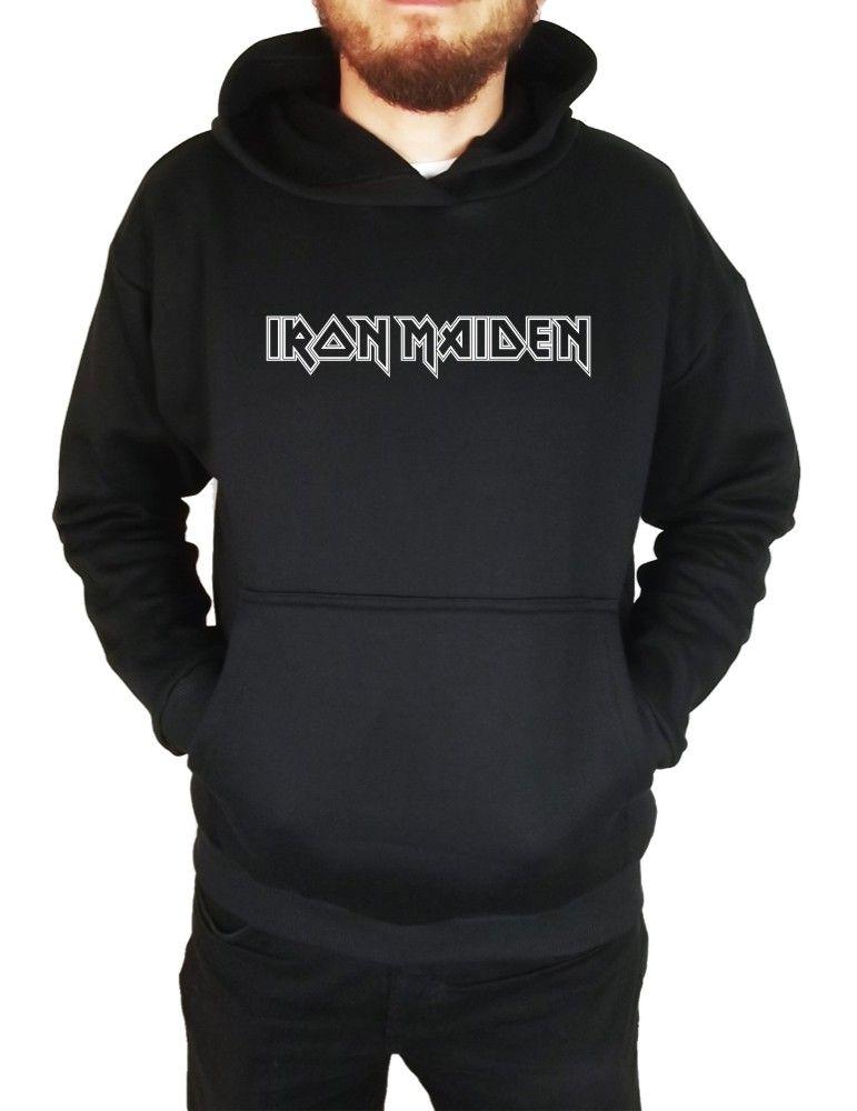 Moletom Canguru Masculino Iron Maiden Logo ER_037