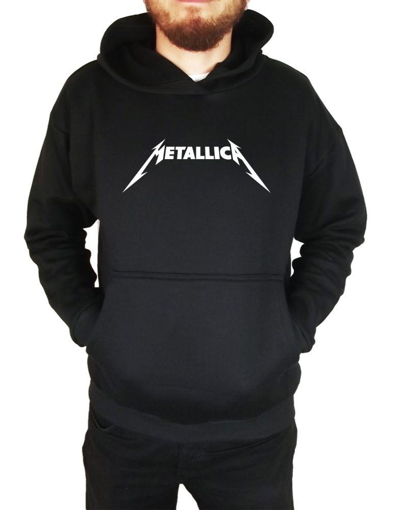 Moletom Canguru Masculino Metallica Logo ER_022