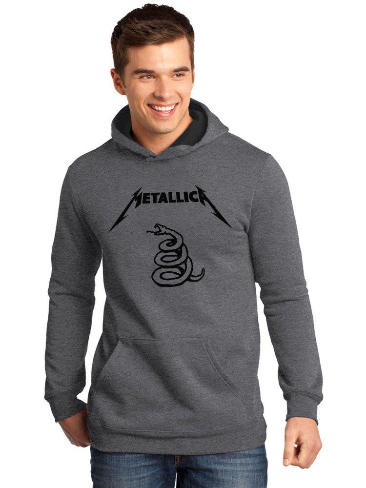 Moletom Canguru Masculino Premium Metallica Black Álbum ER_120