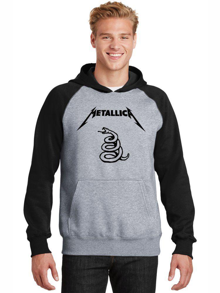 Moletom Canguru Masculino Raglan Metallica Black Álbum ER_120