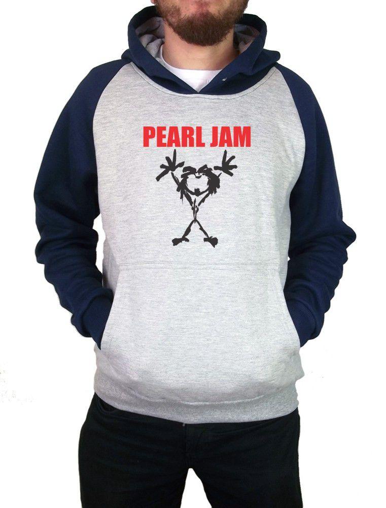 Moletom Canguru Masculino Raglan Pearl Jam ER_062