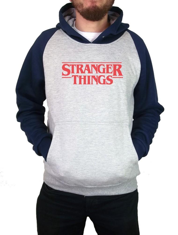 Moletom Canguru Masculino Raglan Stranger Things Logo ER_039