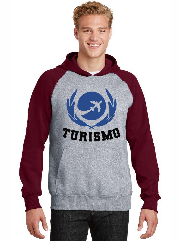 Moletom Canguru Masculino Raglan Universitário Faculdade Curso Turismo