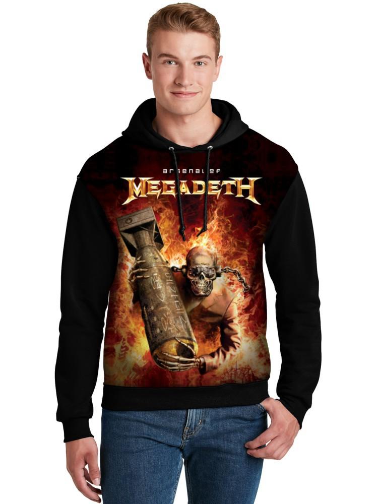 Moletom Canguru Unissex Full Printed Banda Megadeth FP_009