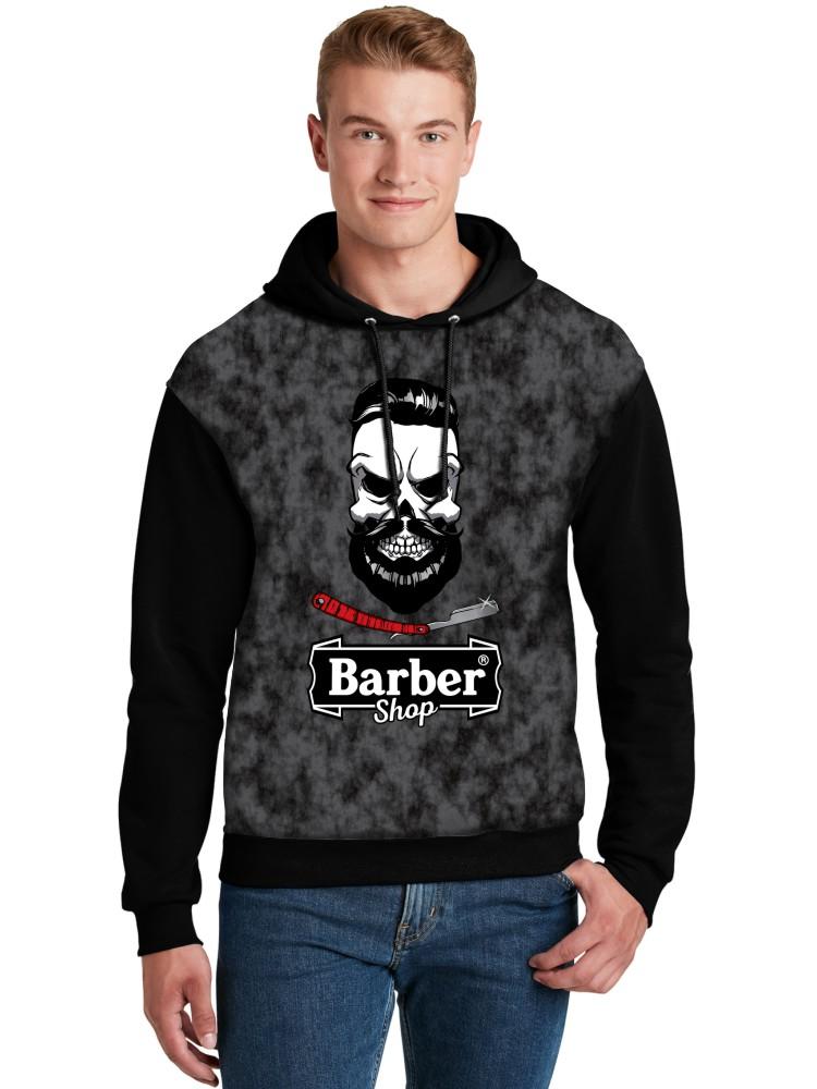 Moletom Canguru Unissex Full Printed Barbearia Clássica Barber Shop FP_020